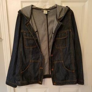 Susan Bristol denim hooded jacket